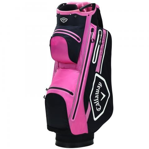 Callaway 2021 Chev Dry 14 Waterproof Golf Cart Bag Black/Rose/White