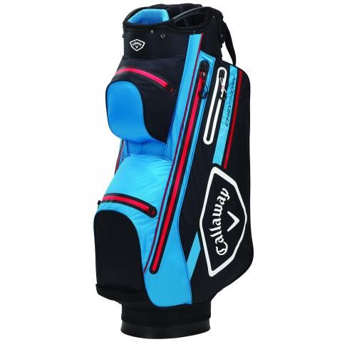 Callaway 2021 Chev Dry 14 Waterproof Golf Cart Bag Black/Cyan/Red