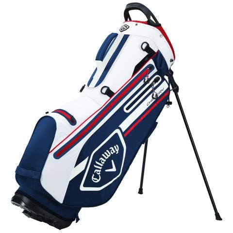 Callaway 2021 Chev Dry Waterproof Golf Stand Bag Navy/White/Red