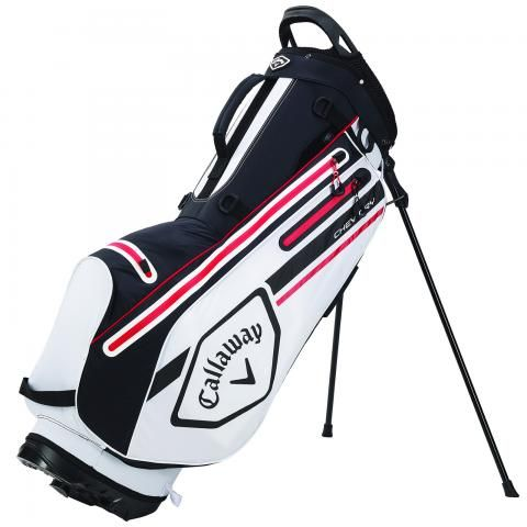 Callaway 2021 Chev Dry Waterproof Golf Stand Bag White/Black/Fire