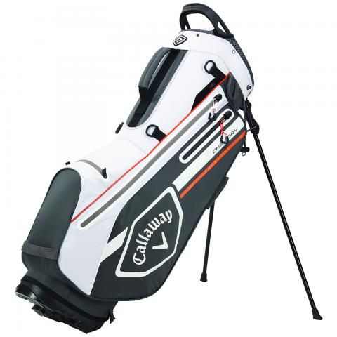 Callaway 2021 Chev Dry Waterproof Golf Stand Bag Charcoal/White/Orange