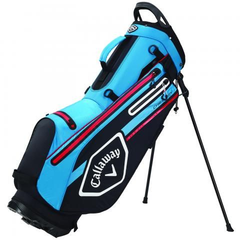 Callaway 2021 Chev Dry Waterproof Golf Stand Bag Black/Cyan/Fire