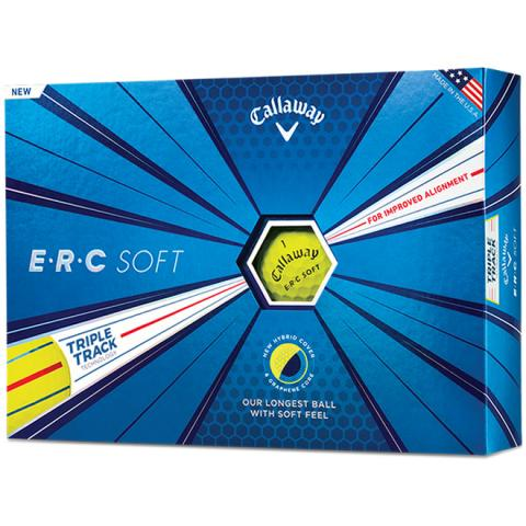 Callaway ERC Soft Triple Track Golf Balls Yellow / Dozen