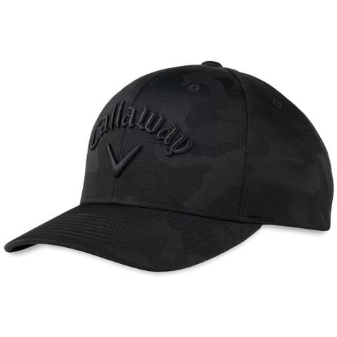 Callaway Camo FLEXFIT Adjustable Snapback Baseball Cap Black