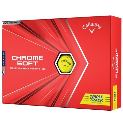 Callaway Chrome Soft 2020 Triple Track Golf Balls Yellow / Dozen