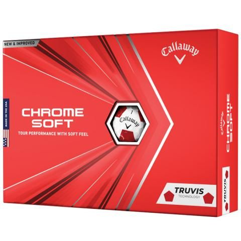 Callaway Chrome Soft 2020 Truvis Golf Balls White & Red / Dozen