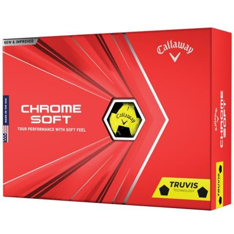 Callaway Chrome Soft 2020 Truvis Golf Balls Yellow & Black / Dozen