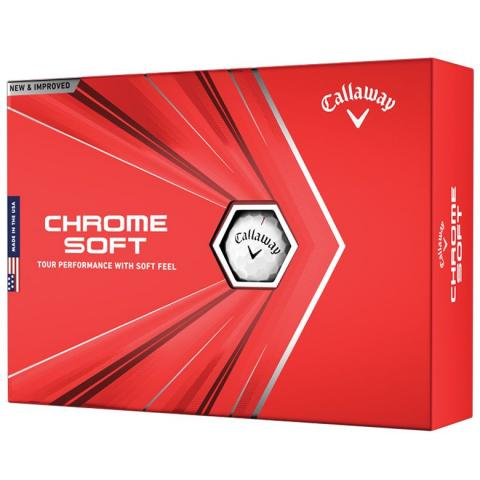 Callaway Chrome Soft Personalised Golf Balls White with Free Xmas Personalisation
