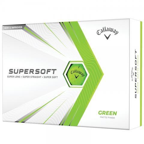 Callaway Supersoft Golf Balls Green / Dozen