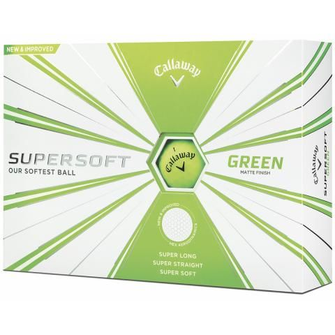 Callaway Supersoft Matte Golf Balls Green / Dozen