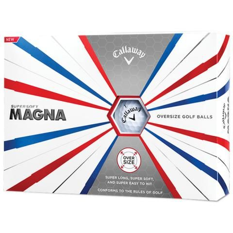Callaway Supersoft Magna Oversized Golf Balls White / Dozen