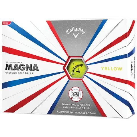 Callaway Supersoft Magna Oversized Golf Balls Yellow / Dozen