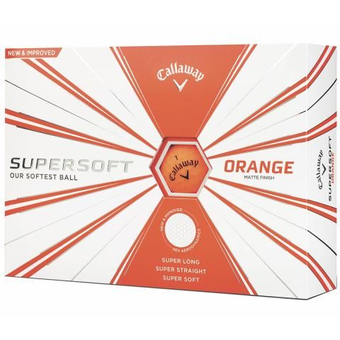 Callaway Supersoft Matte Golf Balls Orange / Dozen