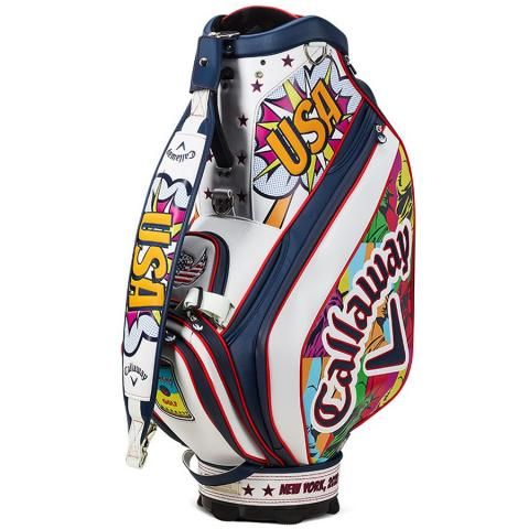 Callaway US Open Limited Edition Golf Tour Staff Bag White/Multicolour with Headcovers