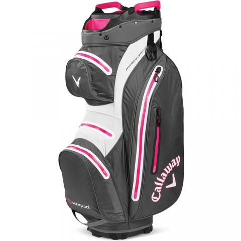 Callaway Hyper Dry 15 Waterproof Golf Cart Bag Charcoal/Pink