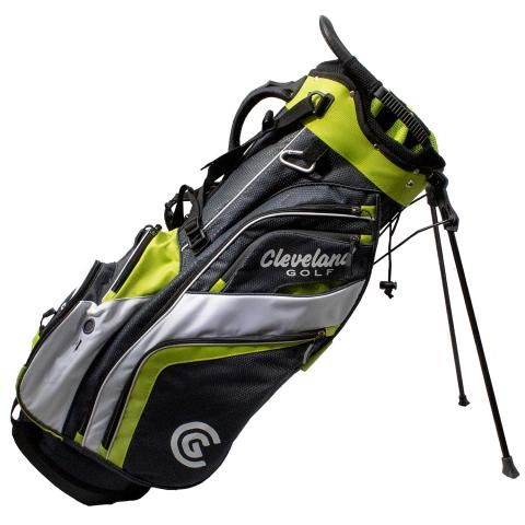 Cleveland Saturday Golf Stand Bag Charcoal/Lime/White