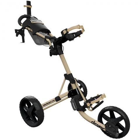 Clicgear 4.0 3-Wheel Push Golf Trolley Army Brown