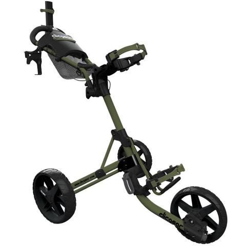 Clicgear 4.0 3-Wheel Push Golf Trolley Army Green