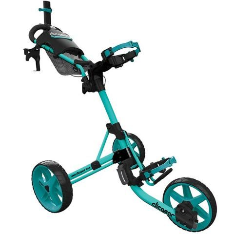 Clicgear 4.0 3-Wheel Push Golf Trolley Soft Teal