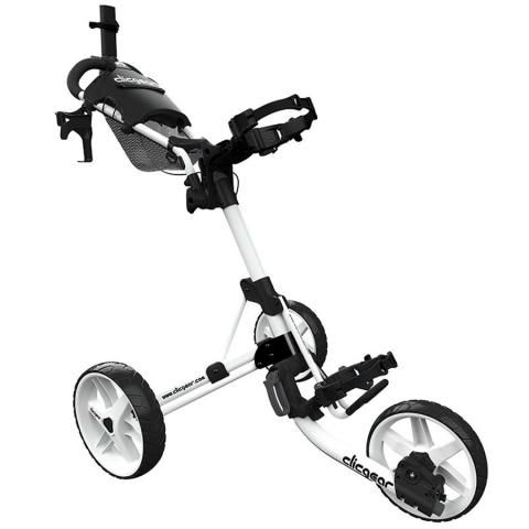 Clicgear 4.0 3-Wheel Push Golf Trolley White