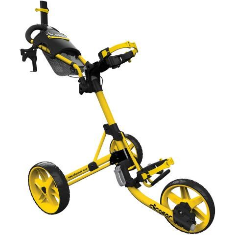 Clicgear 4.0 3-Wheel Push Golf Trolley Yellow