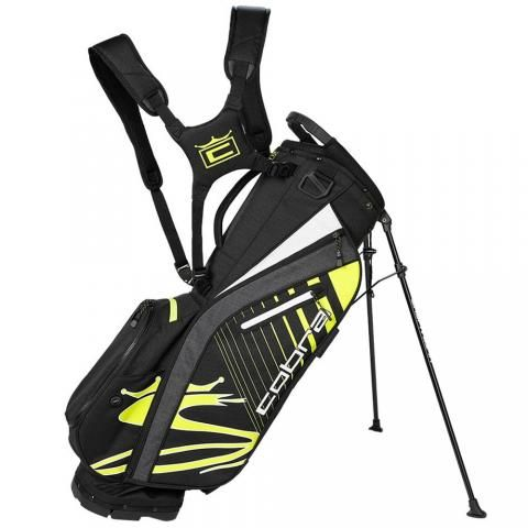 Cobra 2021 Ultralight Golf Stand Bag Black/Turbo Yellow