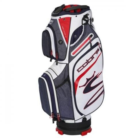 Cobra 2021 Ultralight Golf Cart Bag Peacoat/High Risk Red/White