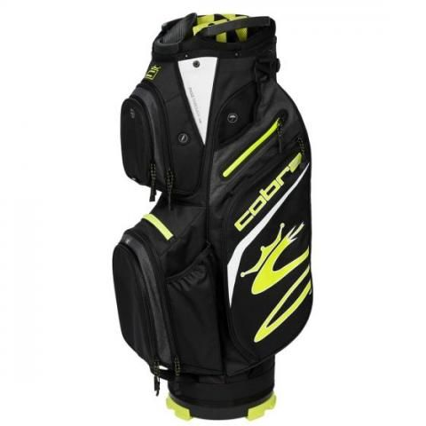Cobra 2021 Ultralight Golf Cart Bag Black/Turbo Yellow