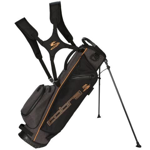 Cobra 2021 Ultralite Sunday Golf Stand Bag Black/Orange