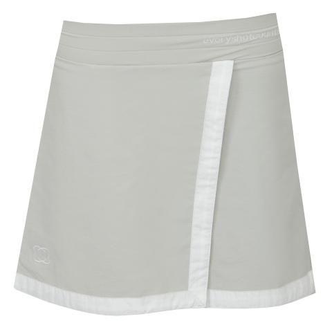 everyshotcounts Girls Junior Golf Skort Gleneagles - Cool Grey