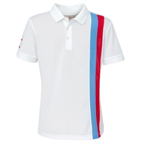 d51ff92c everyshotcounts Boys Striped Junior Polo Shirt Gianni - White