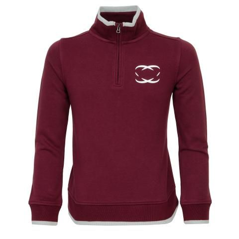 everyshotcounts Junior Zip Neck Sweater Dark Cherry