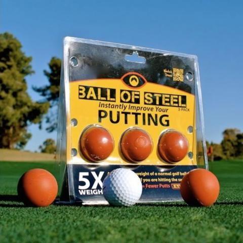 Eyeline Golf Balls of Steel Instant putting feedback