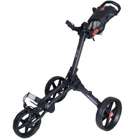 FastFold Kliq 3-Wheel Push Golf Trolley Charcoal/Black