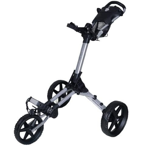 FastFold Kliq 3-Wheel Push Golf Trolley Silver/Black