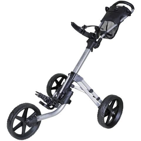 FastFold Mission 5.0 3-Wheel Push Golf Trolley Silver/Black