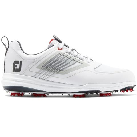 FootJoy FJ Fury Golf Shoes #51100 White/Red