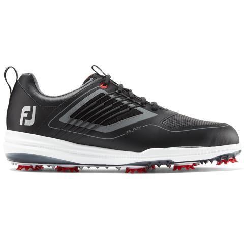 FootJoy FJ Fury Golf Shoes #51103 Black/Red