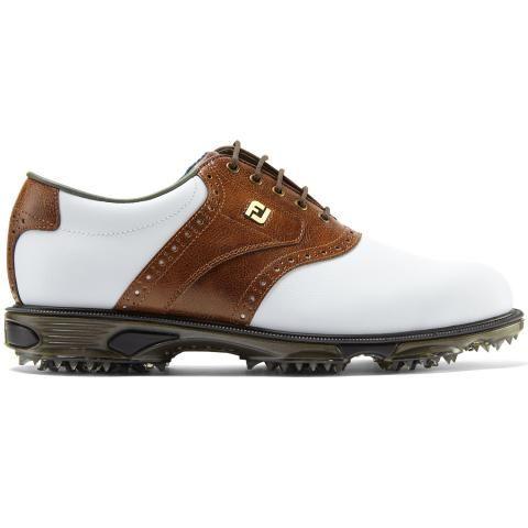FootJoy DryJoys Tour Golf Shoes #53709 White/Brown