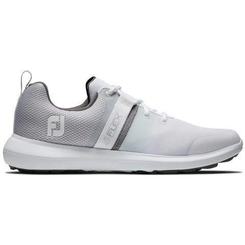 FootJoy FJ Flex Golf Shoes #56120 White/Grey