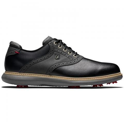 FootJoy Traditions Golf Shoes #57904 Black/Black