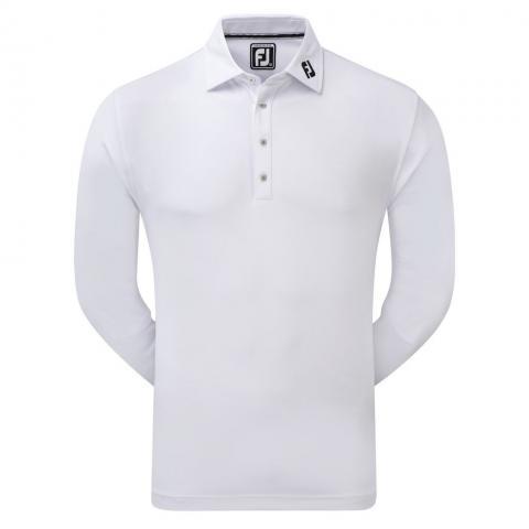 FootJoy Long Sleeve Thermocool Polo Shirt White