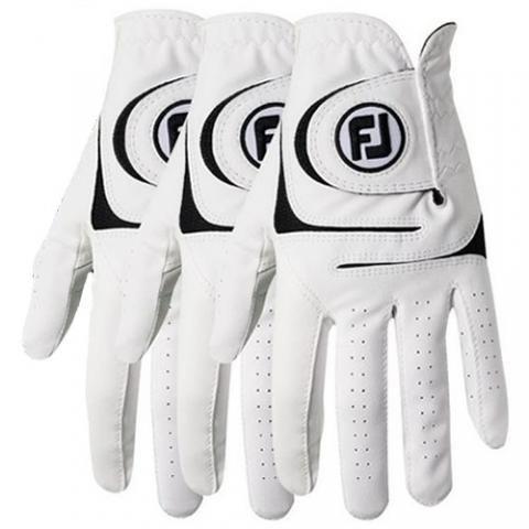 FootJoy WeatherSof Golf Glove Bonus 3 Pack Right Handed Golfer / White/Black