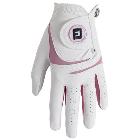 FootJoy WeatherSof Ladies Golf Glove Right Handed Golfer / White/Pink