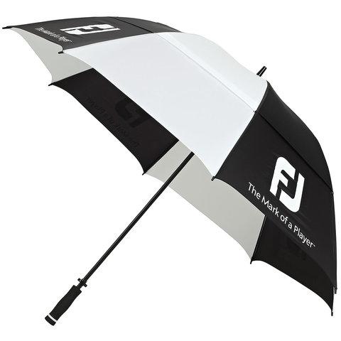 FootJoy DryJoys Double Canopy Golf Umbrella Black/White