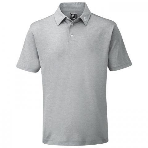 FootJoy Stretch Pique Solid Polo Shirt Heather Grey 91819