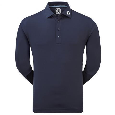FootJoy Long Sleeve Thermocool Polo Shirt Navy