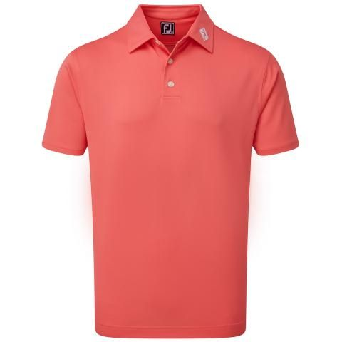 FootJoy Stretch Pique Solid Polo Shirt Coral 90353
