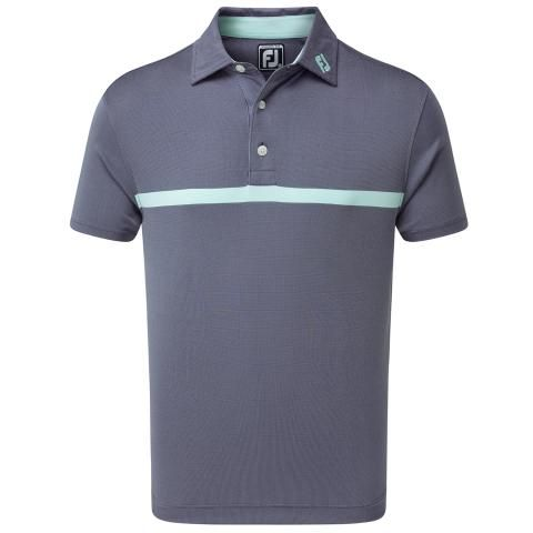 FootJoy Engineered Nailhead Jacquard Polo Shirt Deep Blue/Mint 90364
