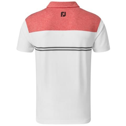 FootJoy Heather Colour Block Lisle Polo Shirt